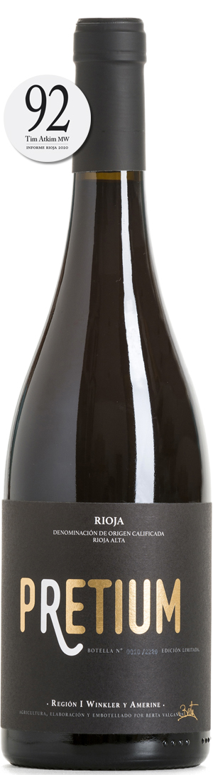 Bottle of Pretium Red